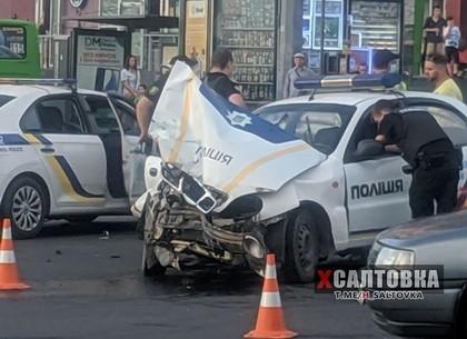 Полицейский автомобиль попал в ДТП (ВИДЕО, ФОТО)
