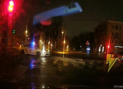 ВИДЕО: Ночью копы гонялись за пьяным на круизере - Соцсети