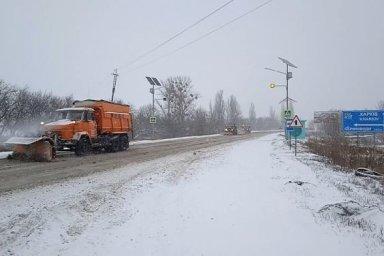 В течение суток на дорогах области работало 160 единиц специальной техники
