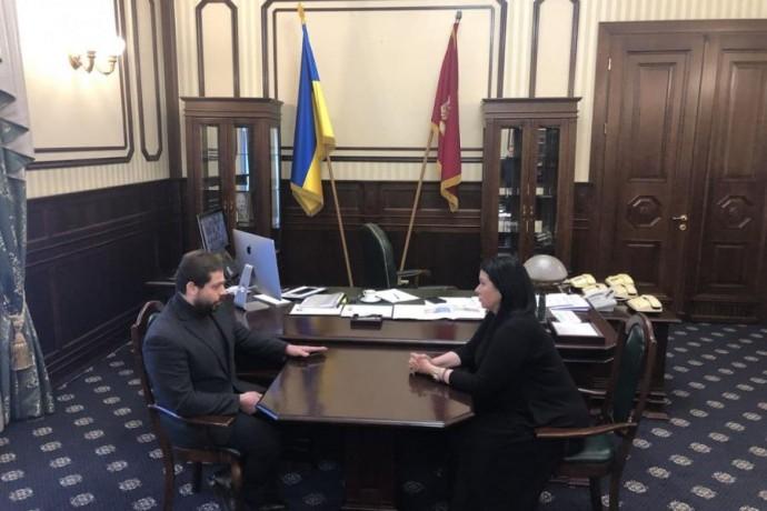 Айна Тимчук встретилась с исполняющим обязанности председателя Государственного космического агентст