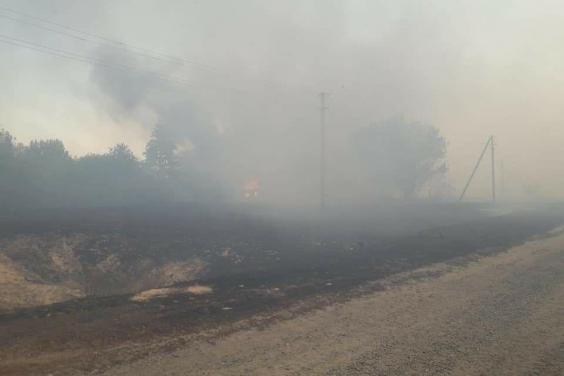Оперативная информация про пожары на Харьковщине