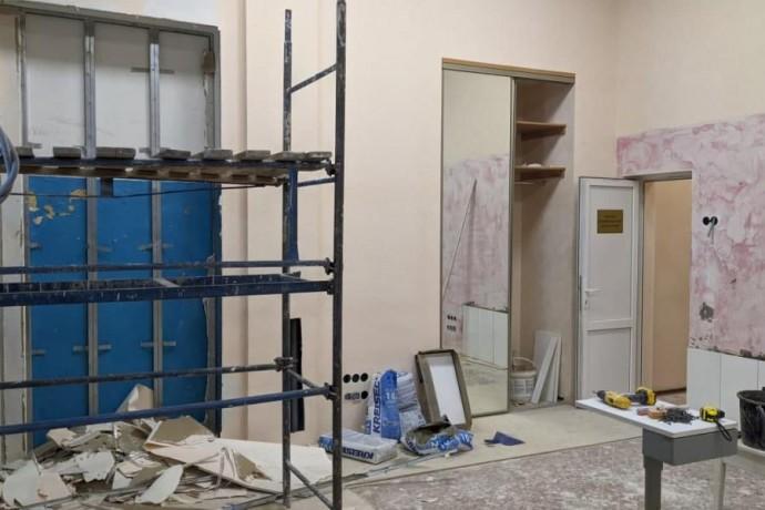 В областной больнице продолжается ремонт офтальмологического отделения для СOVID-пациентов