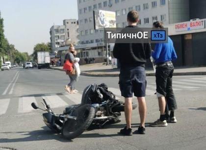 ВИДЕО: ДТП с мотоциклом в Харькове (Telegram)