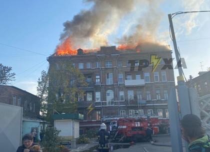 ВИДЕО: горит дом на Чеботарской (Обновлено, Telegram)