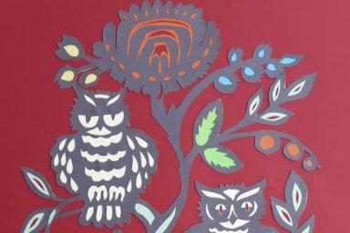 Областной центр культуры презентует выставку вытынанок Валковской детской школы искусств