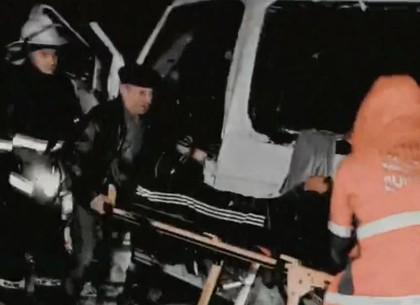 Ночное ДТП: маршрутка врезалась в фуру, водителя вырезали из кабины (Telegram)