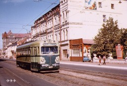Харьков в 1959 г. Трамвай на Свердлова (сейчас - Полтавский Шлях)