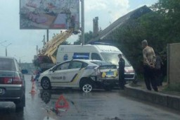 В Харькове авто патрульной полиции попало в ДТП