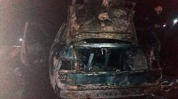 В Харькове водитель погиб в горящем автомобиле
