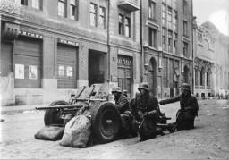 Улица Энгельса во время оккупации